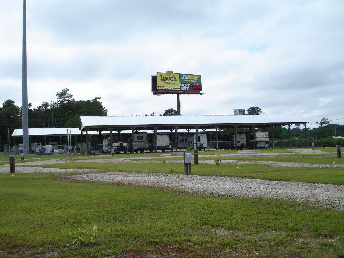 Image 5 of our storage park in Biloxi | Allure RV Park