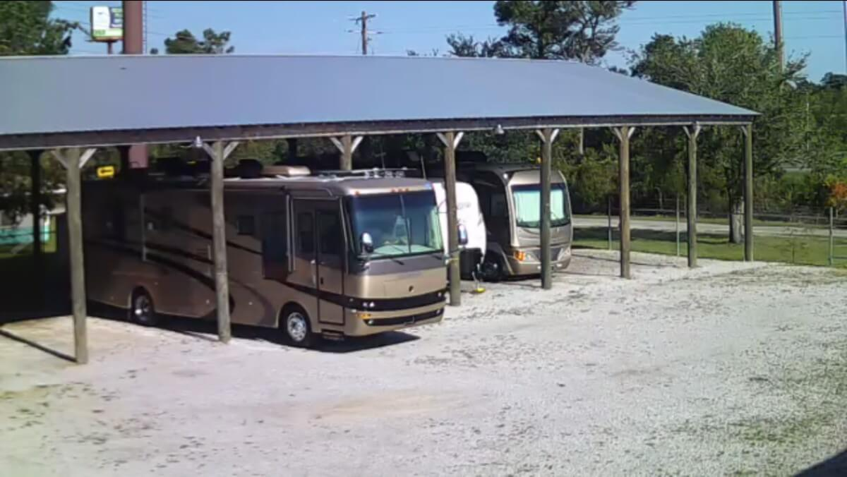 Image 4 of our storage park in Biloxi | Allure RV Park