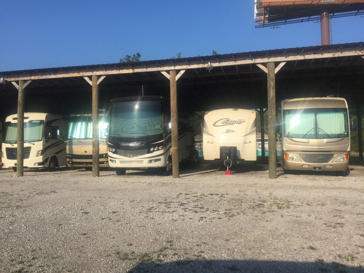 Image 1 of our storage park in Biloxi | Allure RV Park